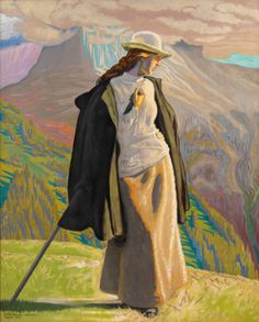 J.F. Willumsen, A Mountain Climber, 1912, Oil on canvas