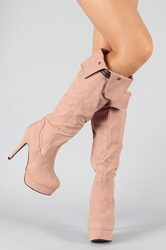 Lover-2 Cuff Round Toe Knee High Boot in Blush. 26$