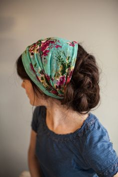 Garden Party Cowl Garlands of Grace headcovering scarf head covering