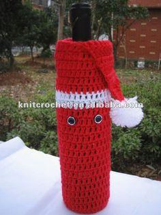 Crochet+Wine+Bottle+Gift+Bag | ... Crochet Wine Bottle Bag, Christmas Gift, Wedding Gift, Bar Accessories