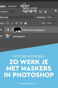 Photoshop tutorial (Nederlands): Met een masker kun je een bewerking op één deel van de foto toepassen. Bijvoorbeeld alleen extra contrast in de lucht bij landschapsfotografie, of een aanpassing in kleuren van een blauw shirt, maar niet op iemands blauwe ogen. Goede uitleg over Adobe Photoshop, ook over het werken met lagen.