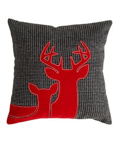 Gray Reindeer Throw Pillow - $25.99