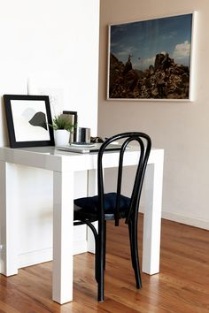 i love this desk so much that i own two (in a one bedroom apartment) - this size in black and the larger size in white