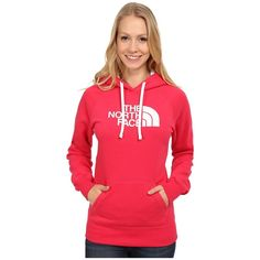 The North Face Half Dome Hoodie Women's Sweatshirt ($45) ❤ liked on Polyvore featuring tops, hoodies, sweatshirt hoodie, red sweatshirt, hoodie sweatshirts, sweat shirts ve red pullover hoodie