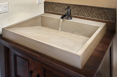 Concrete sinks!! My hubby could do this
