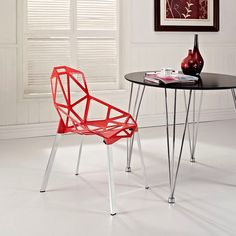 Connections Dining Side Chair in Red