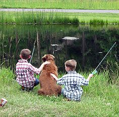 Fishing with their best friend
