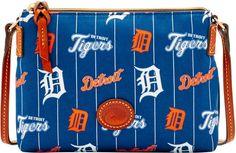 Dooney & Bourke MLB Tigers Crossbody Pouchette Shoulder Bag