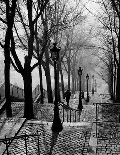 Brassaï: Stairs in Montmartre (Escalier de la butte Montmartre), Paris 18e, c. 1938-1937
