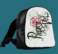Pierce The Veil Logo Glitter for Backpack / Custom Bag / School Bag / Children Bag / Custom School Bag *