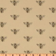 Timeless Treasures French Court Bees Beige
