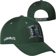 Hawaii Warriors Top of the World Triple Threat Hat – Green