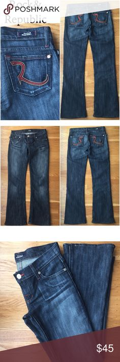 "Rock & Republic Jeans Authentic Rock & Republic Jeans. Inseam 30"". Very good condition. Rock & Republic Jeans Boot Cut"