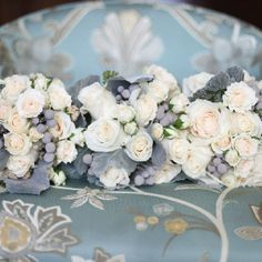 Winter Inspired Bouquets - Greys and pinks Wedding Bouquets, Wedding Flowers, Bridesmaid Bouquets, Our Wedding, Dream Wedding, Wedding Stuff, Wedding Ideas, Winter Wedding Attire, Dusty Miller