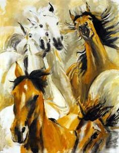 Wild Horses by Ronnie Wood of the Rolling Stones. The Rolling Stones, Wood Artwork, Painting On Wood, Wood Paintings, Ronnie Wood Art, Rock And Roll, Ron Woods, The Other Art Fair, Boat Art