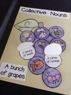 Collective Nouns - Includes 132 slide Power Point followed by an Interactive Craftivity
