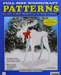 christmas moose wood craft pattern