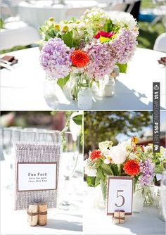 mason jar floral arrangements | CHECK OUT MORE IDEAS AT WEDDINGPINS.NET | #wedding