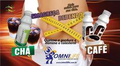 Perder peso bebendo um delicioso cafezinho ou chá gelado. www.saudevidaomnilife.com