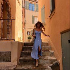 French Girl Daily — Saint-Tropez / via Italy Outfits, Paris Outfits, Summer Outfits, Summer Shoes, Parisian Summer, Parisian Chic Style, French Summer, Paris Street Style Summer, European Summer