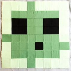 Name: 'Quilting : Minecraft Quilt Block - Slime Minecraft Blanket, Minecraft Pattern, Minecraft Blocks, Minecraft Room, Minecraft Stuff, Minecraft Ideas, Quilting Tutorials, Quilting Projects, Quilting Designs