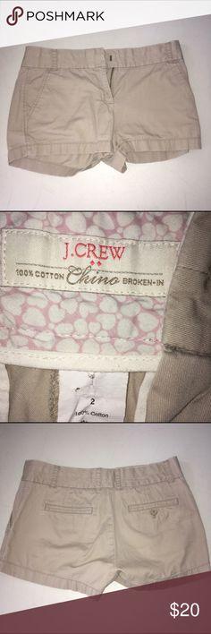 J. Crew Chino Shorts Broken In Like New Size 2 J. Crew Chino Shorts Broken In Like New Size 2 J. Crew Shorts