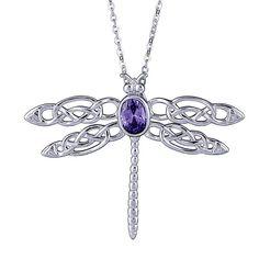 Celtic+Dragonfly+Pendant+