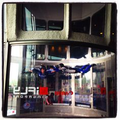 Indoor sky diving-This set the precedent to do the REAL THING for my birthday last year. LOVED THIS.