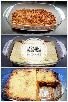 Lasagne zonder pakjes en zakjes – RECEPT