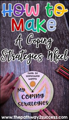 How to make a coping strategies wheel to help kids and teens learn to manage their emotions, anxiety, and anger on the spot. This is a helpful hands-on and interactive tool for people managing stress. Emotional Regulation, Self Regulation, Coping Skills, Social Skills, Social Work, Emotions Wheel, Stress Management Activities, Anger Management, Classroom Management