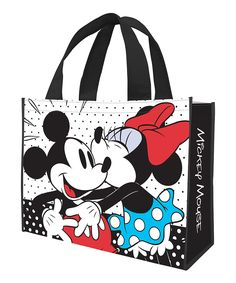 Look what I found on #zulily! Mickey & Minnie Mouse Recycled Shopper Tote by Mickey Mouse & Minnie Mouse #zulilyfinds