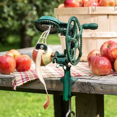 This is the apple peeler to outclass them all. Does only one thing - peels - and does it very well: over 10 apples per minute. It's almost worth buying one just to watch it work. Peeling apples for delicious pies, cobblers, canning, applesauce and more will never be faster or easier.       Spike apple of any shape or size onto holding-fork      In just five turns of the crank the apple is peeled and automatically pushed off the fork      Cast iron and brass with carbon steel knife and…