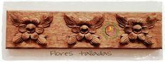 Flores talladas en Tilo. Flowers' woodcarving