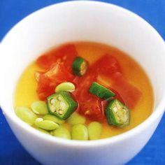 冷たい茶碗蒸しの野菜あんかけ Thai Red Curry, Food And Drink, Soup, Cooking Recipes, Dishes, Ethnic Recipes, Japanese, Custard, Kitchens