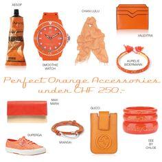 Orange Accessories Orange Accessories, Superga, Chloe, Gucci, Watches, Smoothie, Advertising, Wrist Watches, Smoothies