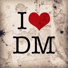 """I <3 DM """"poster"""" created with Phoster by a2alien (Depeche Mode)"""