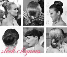 Sleek chignons - Best Wedding Updos | 60 Hairstyles for Brides - snippetandink