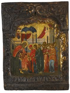Entrance of the Mother of God into the Temple, Greece, possibly 17th centuryor later | Lot | Sotheby's
