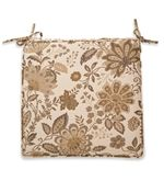 """This one is so pretty.  18"""" x 18"""" x  3"""" for $29.99 each.   Sunbrella® Fade-Resistant Indoor/Outdoor Armchair Cushion Beige Floral only 