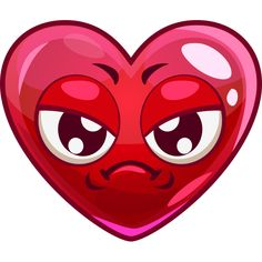 Sad and annoyed, this heart isn't having such a great day.