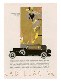 Cadillac, Magazine Advertisement, USA, 1931 Kunstdrucke bei AllPosters.de