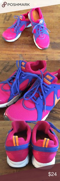 Nike Training In Season, size 10 us Nike pink and purple shoes, good condition, worn only a few times Nike Shoes Athletic Shoes