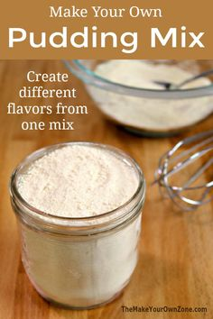 This homemade pudding mix recipe is a great substitute for a box from the store, and can be made in chocolate, vanilla, and other flavors too. Homemade Dry Mixes, Homemade Spices, Homemade Seasonings, Homemade Things, Homemade Recipe, Homemade Food, Pudding Desserts, Pudding Cookies, Jello Pudding Recipes
