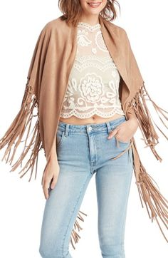 This fringe shawl will add an instant bohemian vibe to any summer outfit!