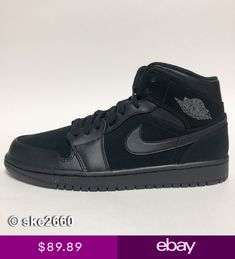 fcb302f5420bba AIR JORDAN 1 MID 8-14 BLACK DARK GREY 554724-050.