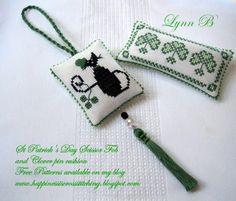 Happiness is Cross Stitching : Cross Stitch scissor fob and pin cushion finish