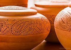 Detalle de la obra clave iglesia en la cerámica