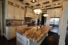 Small kitchen with betularie granite countertops