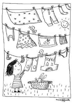 * Was ophangen...