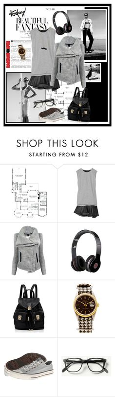 """""""Untitled #830"""" by dianekinkade ❤ liked on Polyvore featuring Jay Ahr, IRO, Beats by Dr. Dre, Forever New, Rolex and Converse"""